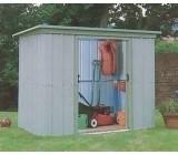 YardMaster 84PZ Pent 7ft 10ins x 3ft 11ins Metal Garden Shed