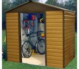 86WGL Yardmaster Woodgrain Metal Garden Shed